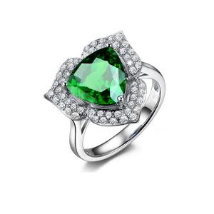 0.335克拉沙弗莱 钻石戒指