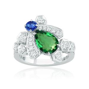 0.562克拉沙弗莱钻石戒指