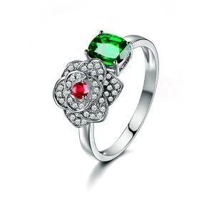 0.868克拉沙弗莱21分钻石戒指