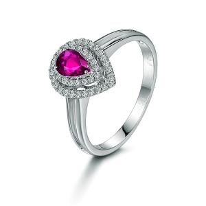 1.06克拉粉色蓝宝 34分钻石戒指