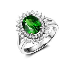 2.24克拉沙弗莱 64分钻石戒指