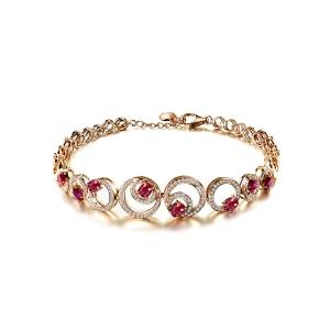 1.57克拉红宝钻石手链