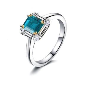 1.61克拉蓝宝石 15分钻石戒指