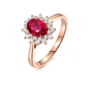 1.170克拉无烧红宝石 78分钻石戒指