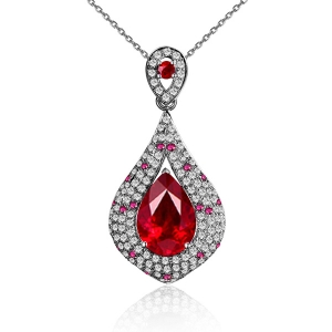 1.120克拉红宝石 49分红宝钻石吊坠