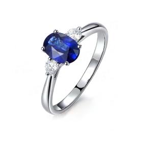 1.780克拉蓝宝石 12分钻石戒指