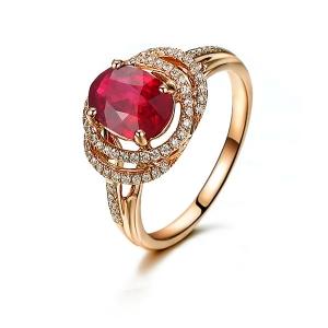 0.68克拉红宝石钻戒