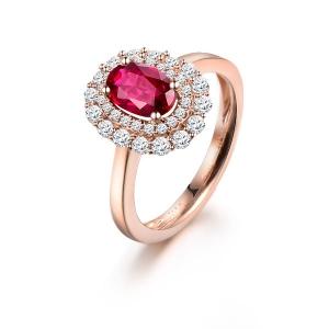1.040克拉红宝石钻戒