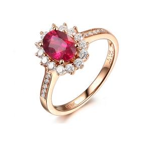 1.730克拉红宝石钻戒