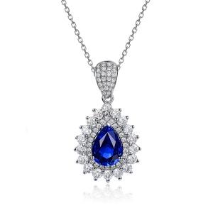 2.410克拉蓝宝石 61分钻石吊坠