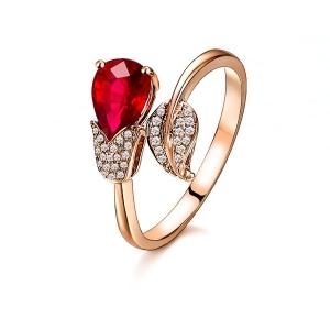 0.490克拉红宝石钻戒