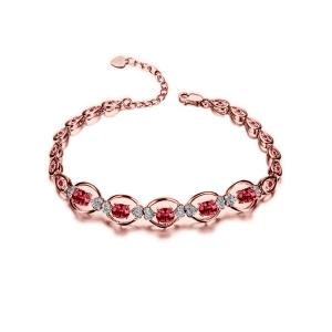 1.69红宝石钻石手链厂价7680元