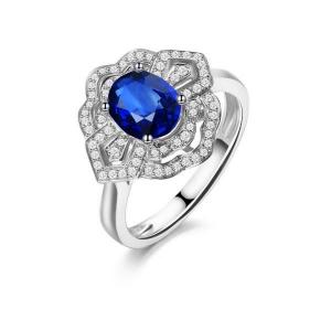 2.600克拉蓝宝石 32分钻石戒指