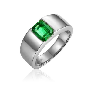 0.870克拉祖母绿戒指