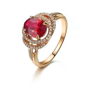 0.770克拉红宝石钻戒