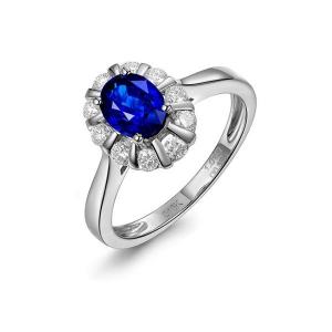 1.32克拉蓝宝石钻戒厂价4741元