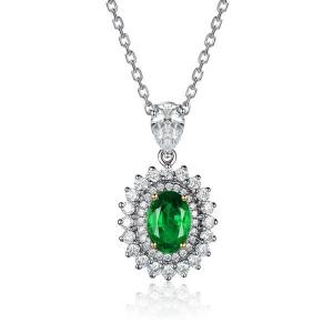 1.580克拉祖母绿 40分彩宝 83分钻石吊坠