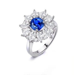 3.160克拉蓝宝石钻戒厂价10273元