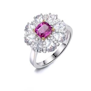 0.850克拉蓝宝石209分彩宝 11分钻石戒指
