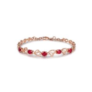 2.990克拉红宝石钻石手链