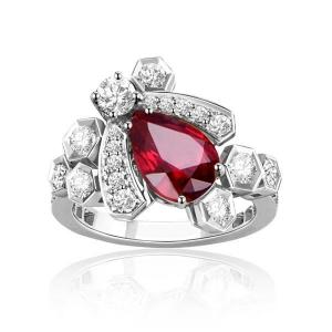 缅甸红宝石钻戒厂价3562元