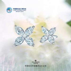 G18K金蓝宝钻石耳钉厂价1326元