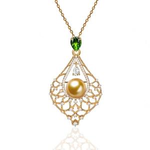 海水金珠钻石坠直径约13厂价9230元