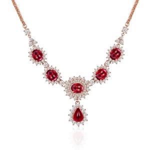 10.22红宝钻石项链厂价33471元