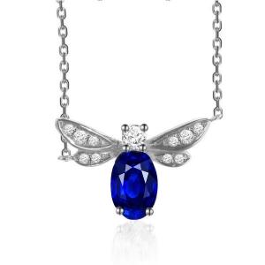 蓝宝石钻石吊坠