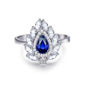 蓝宝石钻戒