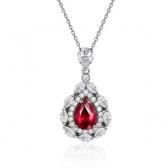 红宝石钻石吊坠