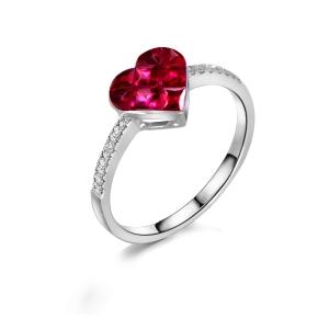 """红宝石钻石戒指""""心念"""""""