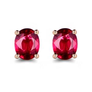 红宝石耳钉