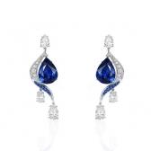 1.000克拉蓝宝石钻石耳钉