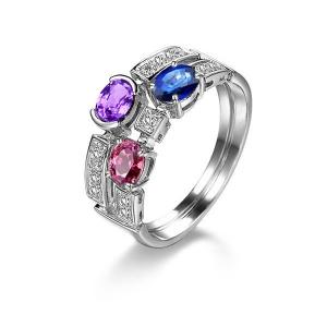 1.340克拉蓝宝石钻石戒指
