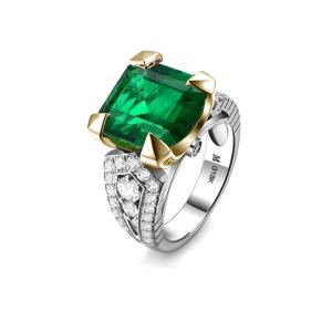 2.330克拉祖母绿钻石戒指