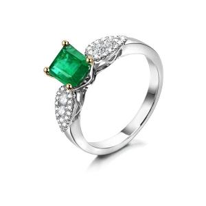2.180克拉祖母绿钻石戒指