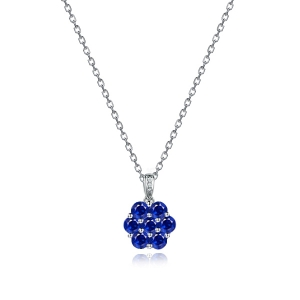 1.200克拉蓝宝石钻石吊坠