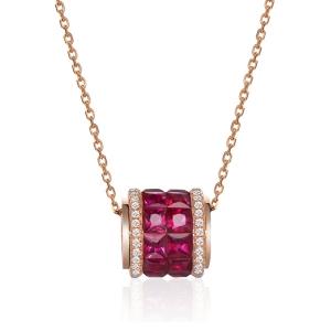 1.41克拉红宝石钻石吊坠