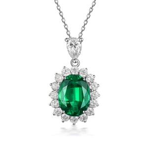 1.31克拉祖母绿钻石吊坠