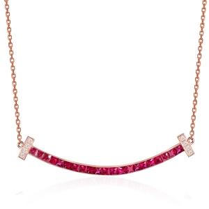 红宝石钻石项坠