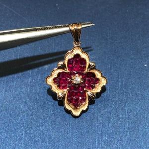 1.89克拉红宝石钻石吊坠