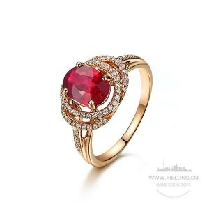 1.120克拉鸽血红红宝石钻石戒指