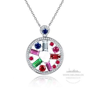 2.370克拉蓝宝石钻石吊坠