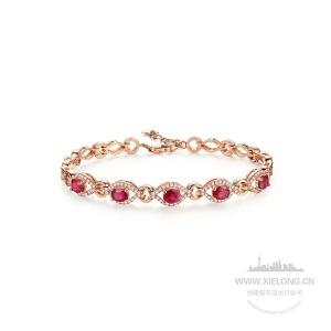 2.070克拉红宝石钻石手链
