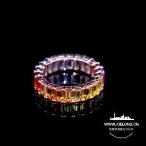4.610克拉彩色蓝宝石戒指