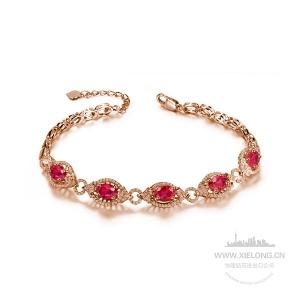 3.610克拉红宝石钻石手链